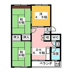 細川マンション[2階]の間取り
