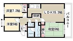 愛知県名古屋市名東区石が根町の賃貸マンションの間取り
