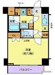 東急田園都市線 用賀駅 徒歩6分の賃貸マンション 1階1Kの間取り