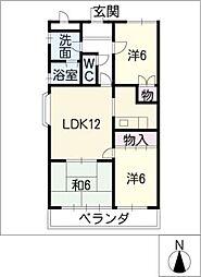 ベル・ニシキ[1階]の間取り