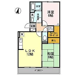 新潟県新潟市東区松崎2丁目の賃貸アパートの間取り