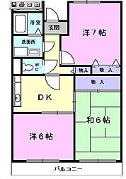 サンベ−ルヒルズ[1階]の間取り