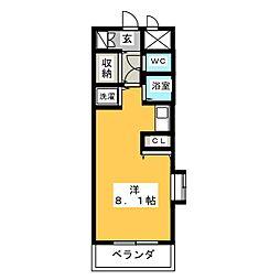 ラナ清水野[2階]の間取り