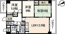 RYOKOビル[3階]の間取り