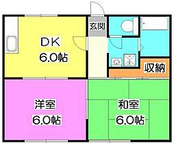 東京都練馬区石神井町1丁目の賃貸アパートの間取り