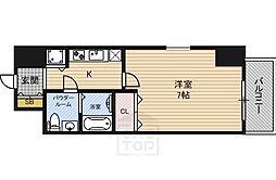 レジュールアッシュ大阪城ノルド[306号室]の間取り