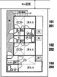 ライフピアビレッジ[2階]の間取り