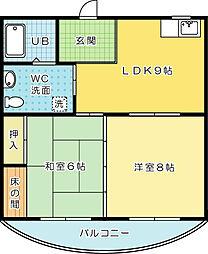 メゾンしらさぎ(高齢者向け優良賃貸住宅)[303号室]の間取り