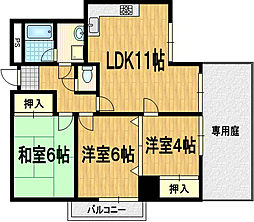 アーチスト島田[1階]の間取り
