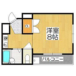 カーサYASUI[201号室]の間取り