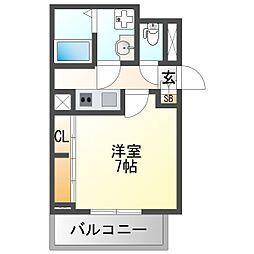 阪急神戸本線 神崎川駅 徒歩2分の賃貸アパート 3階1Kの間取り