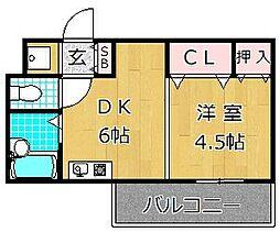 サングランデ1st[5階]の間取り