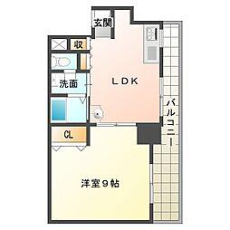 タケミカビル[4階]の間取り