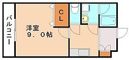 ロイヤルヒルズII[2階]の間取り