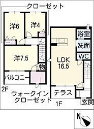 [タウンハウス] 愛知県西尾市羽塚町大道東 の賃貸【/】の間取り