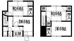 [テラスハウス] 兵庫県川西市久代2丁目 の賃貸【兵庫県 / 川西市】の間取り