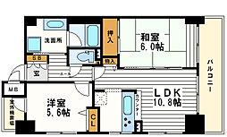 ライオンズマンション松屋町[2階]の間取り