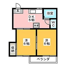 タウニー東進 B棟[2階]の間取り