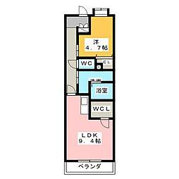 キャッスル常滑 南棟[3階]の間取り