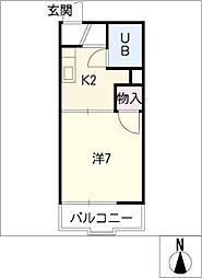 タウニーふじ[2階]の間取り