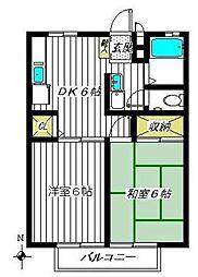 エスパスビジュウA棟(エスパスビジュウAトウ)[2階]の間取り