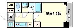 リッツ難波南II[2階]の間取り