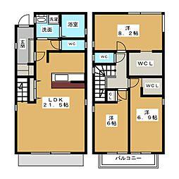 仮称)愛西市内佐屋町新築計画 2階3SLDKの間取り