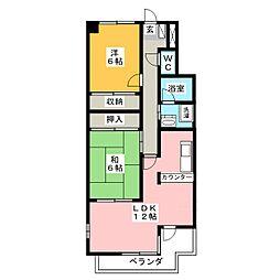 バウムコートA[2階]の間取り