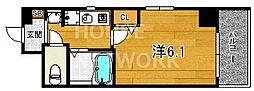 エステムプラザ京都五条大橋[202号室号室]の間取り