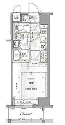 エスリード名古屋東別院 2階1Kの間取り