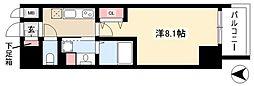 レジデンシア マルノウチ ノース 6階1Kの間取り