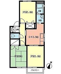 TOKU HOUSE[101号室]の間取り