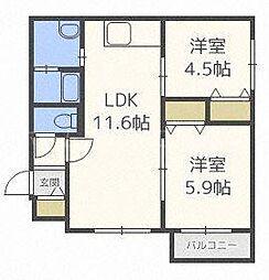 北海道札幌市白石区東札幌一条2丁目の賃貸マンションの間取り