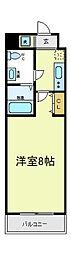 Co.labo天王寺[4階]の間取り