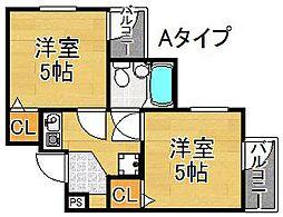 新北島一番館[2階]の間取り