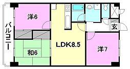 ハイシティ松山[302 号室号室]の間取り