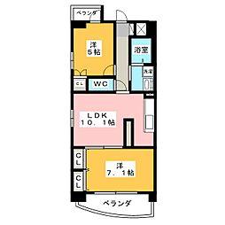 プレミアマルシェ白壁[9階]の間取り