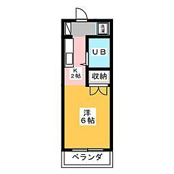 メゾン富士II[3階]の間取り