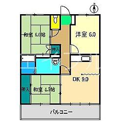 アバン寿[2階]の間取り