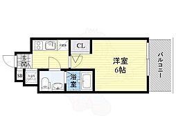 Osaka Metro長堀鶴見緑地線 京橋駅 徒歩11分の賃貸マンション 11階1Kの間取り