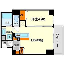 イーストコア新大阪 7階1LDKの間取り