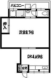 大阪府豊中市服部寿町2丁目の賃貸アパートの間取り