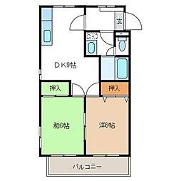 サザンテラス飯原[3階]の間取り