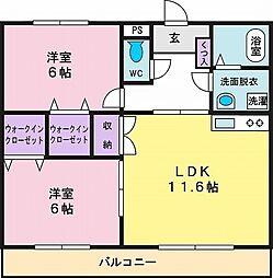 タウンコート2[2階]の間取り