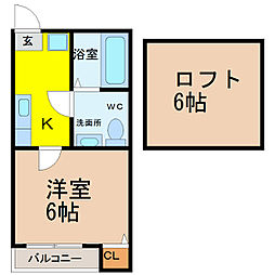愛知県名古屋市守山区西島町の賃貸アパートの間取り