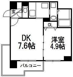 ミルフィ8・7[2階]の間取り