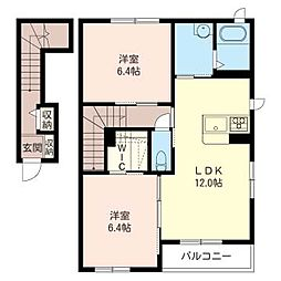 アイメゾンA[2階]の間取り