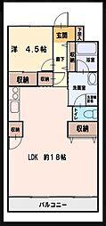 ファーストシティー松嶋[2階]の間取り