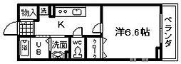 大阪府岸和田市沼町の賃貸アパートの間取り