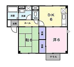 新潟県新潟市中央区姥ケ山5丁目の賃貸アパートの間取り